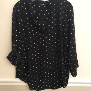 Papermoon Black and white Polka Dot Top